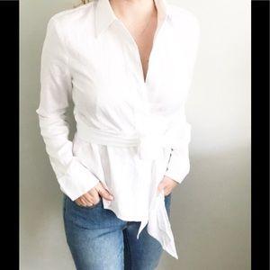 Ann Taylor Bow Tie Wrap on Blouse